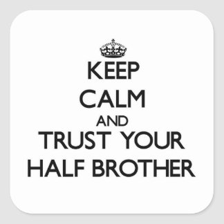 Keep Calm and Trust  your Half-Brother Sticker