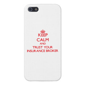 Keep Calm and trust your Insurance Broker iPhone 5/5S Cover