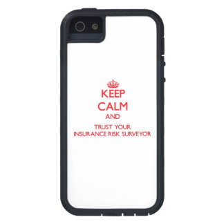 Keep Calm and trust your Insurance Risk Surveyor iPhone 5 Case