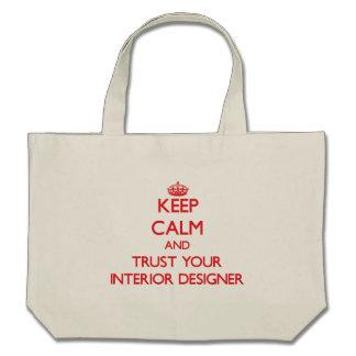 Keep Calm and trust your Interior Designer Canvas Bag