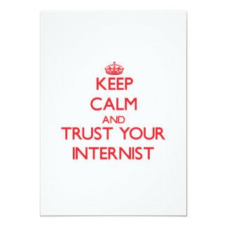 Keep Calm and trust your Internist 13 Cm X 18 Cm Invitation Card