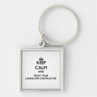 Keep Calm and Trust Your Landscape Contractor Keychains