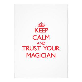 Keep Calm and trust your Magician Custom Invites