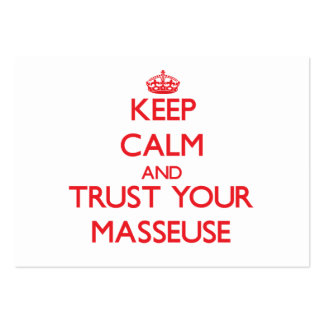 Keep Calm and Trust Your Masseuse Business Card Template