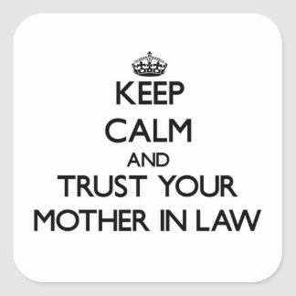 Keep Calm and Trust  your Mother-in-Law Stickers