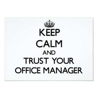 Keep Calm and Trust Your Office Manager Custom Invites