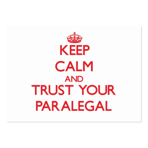 Keep Calm and Trust Your Paralegal Business Card Template