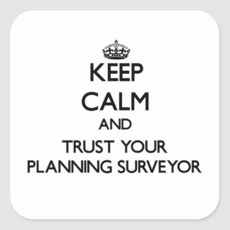 Keep Calm and Trust Your Planning Surveyor Sticker