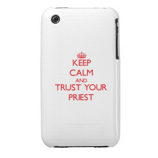 Keep Calm and trust your Priest Case-Mate iPhone 3 Case