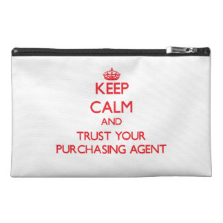 Keep Calm and trust your Purchasing Agent Travel Accessory Bag