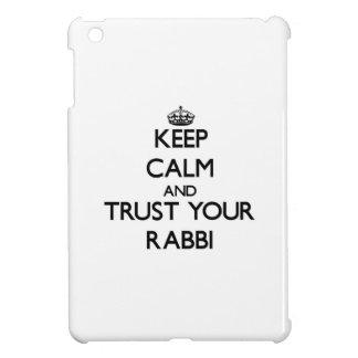Keep Calm and Trust Your Rabbi iPad Mini Cover