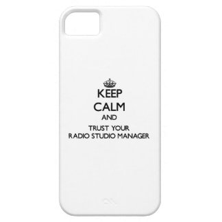 Keep Calm and Trust Your Radio Studio Manager iPhone 5 Covers