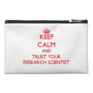 Keep Calm and trust your Research Scientist Travel Accessories Bag