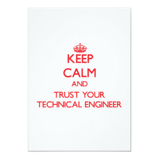 Keep Calm and trust your Technical Engineer Announcements