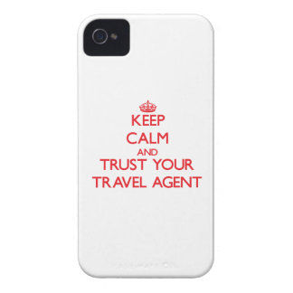 Keep Calm and trust your Travel Agent iPhone 4 Cover