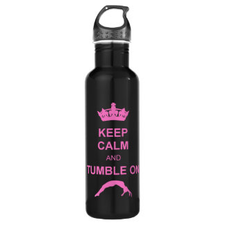 Keep calm and tumble gymnast 710 ml water bottle