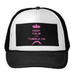 Keep calm and tumble gymnast hats