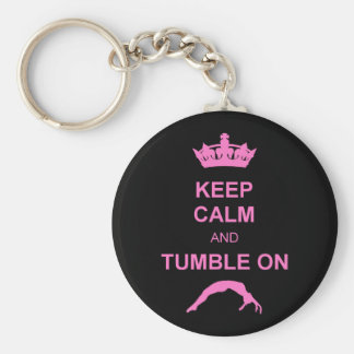 Keep calm and tumble gymnast key ring