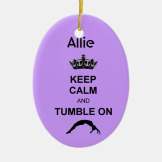 Keep Calm and Tumble gymnast ornament