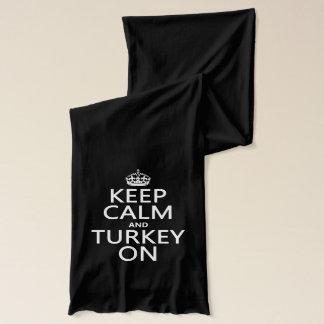 Keep Calm and Turkey On (christmas) Scarf