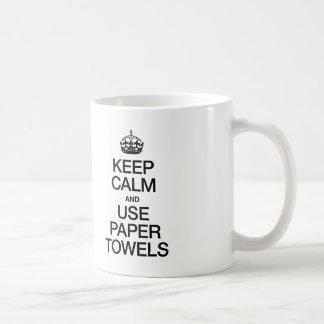 KEEP CALM AND USE PAPER TOWELS MUG