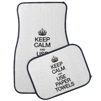 KEEP CALM AND USE PAPER TOWELS FLOOR MAT