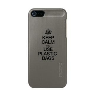 KEEP CALM AND USE PLASTIC BAGS INCIPIO FEATHER® SHINE iPhone 5 CASE