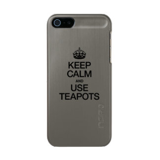 KEEP CALM AND USE TEAPOTS INCIPIO FEATHER® SHINE iPhone 5 CASE