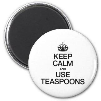 KEEP CALM AND USE TEASPOONS FRIDGE MAGNETS