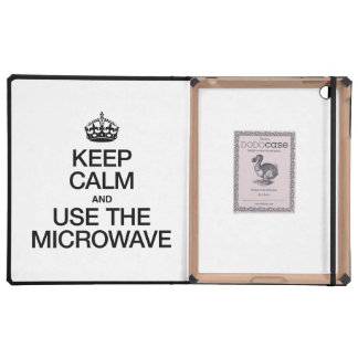 KEEP CALM AND USE THE MICROWAVE COVERS FOR iPad