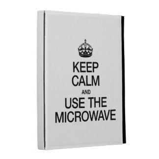 KEEP CALM AND USE THE MICROWAVE iPad FOLIO COVER