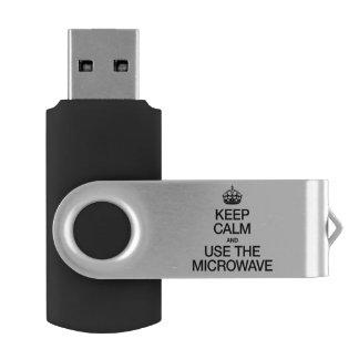 KEEP CALM AND USE THE MICROWAVE SWIVEL USB 2.0 FLASH DRIVE
