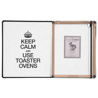 KEEP CALM AND USE TOASTER OVENS iPad FOLIO CASE