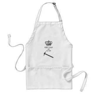 Keep Calm and use your T-Square! Apron