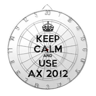 Keep calm and uses Ax 2012 Dart Boards