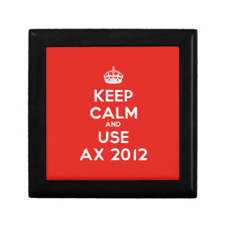 Keep calm and uses Ax 2012 Small Square Gift Box
