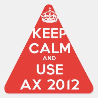 Keep calm and uses Ax 2012 Triangle Sticker
