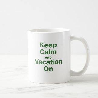 Keep Calm and Vacation On Mugs