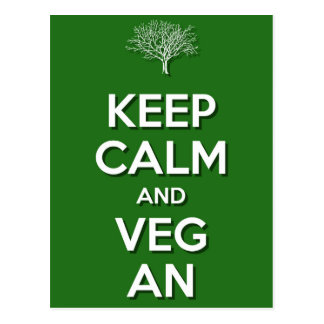 Keep Calm and VegAn Postcard
