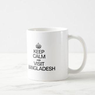 KEEP CALM AND VISIT BANGLADESH COFFEE MUG