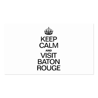 KEEP CALM AND VISIT BATON ROUGE BUSINESS CARD TEMPLATES