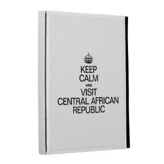 KEEP CALM AND VISIT CENTRAL AFRICAN REPUBLIC iPad FOLIO COVER