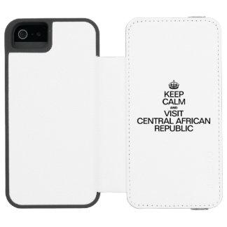 KEEP CALM AND VISIT CENTRAL AFRICAN REPUBLIC INCIPIO WATSON™ iPhone 5 WALLET CASE