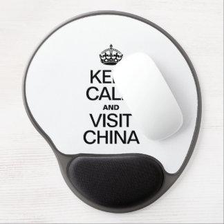 KEEP CALM AND VISIT CHINA GEL MOUSE MAT