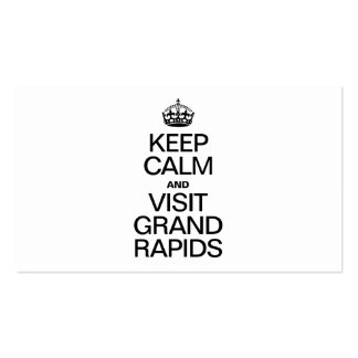 KEEP CALM AND VISIT GRAND RAPIDS BUSINESS CARDS
