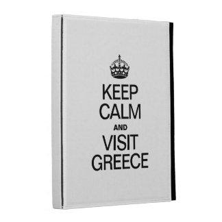 KEEP CALM AND VISIT GREECE iPad FOLIO COVER