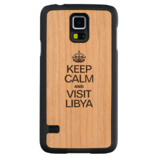 KEEP CALM AND VISIT LIBYA CARVED® CHERRY GALAXY S5 CASE