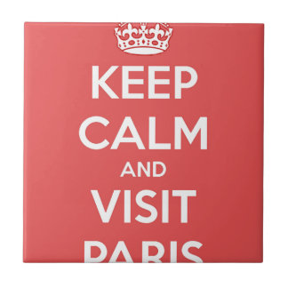Keep Calm and Visit Paris Tile