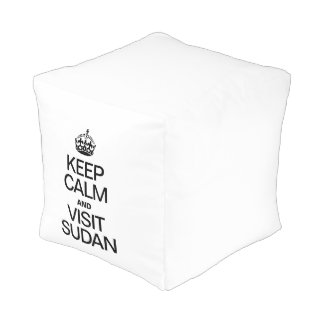 KEEP CALM AND VISIT SUDAN CUBE POUFFE