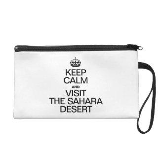 KEEP CALM AND VISIT THE SAHARA DESERT WRISTLET PURSES